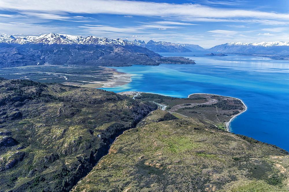 Laguna San Rafael National Park, Aerial view, Aysen Region, Patagonia, Chile, South America