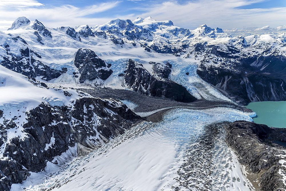 Northern Patagonian Ice Field, Aerial view, Laguna San Rafael National Park, Aysen Region, Patagonia, Chile, South America