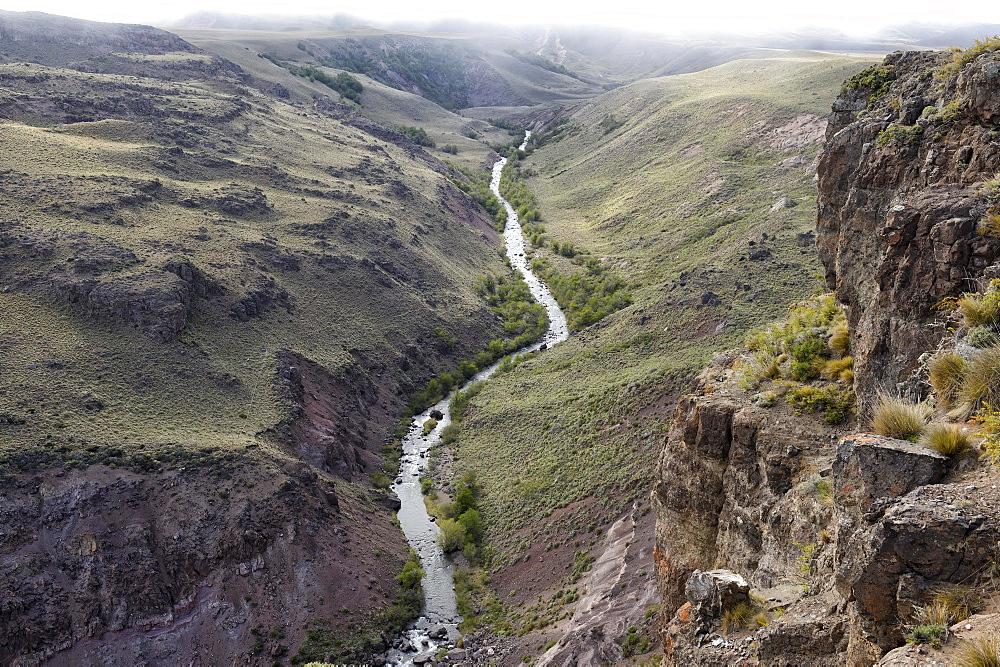 Arid landscape, Coyhaique Alto, Aysen Region, Patagonia, Chile, South America