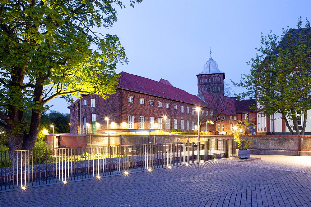 Marstallhof des Burgtors, part of the Luebeck city fortifications, today youth centre, Luebeck, Schleswig-Holstein, Germany, Europe