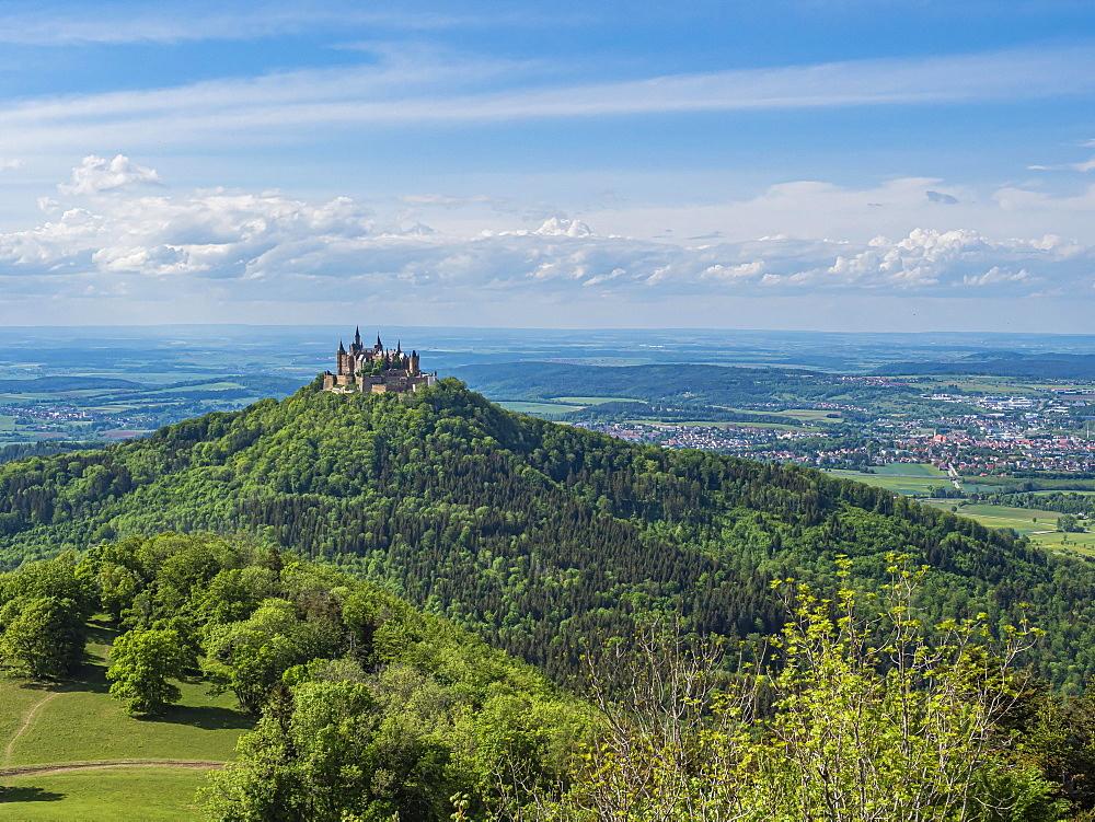 Hohenzollern Castle, Bisingen, Zollernalbkreis, Baden-Wuerttemberg, Germany, Europe