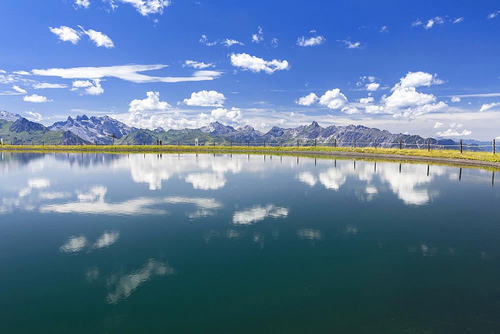 Seebligasee, water reservoir, Schruns, Montafon, Vorarlberg, Austria, Europe