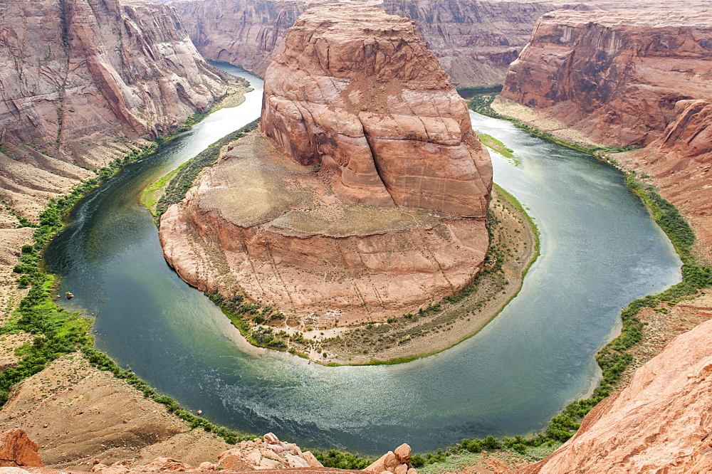 Colorado River, Meander, Glen Canyon, Horseshoe Bend, near Page, Arizona, USA, North America