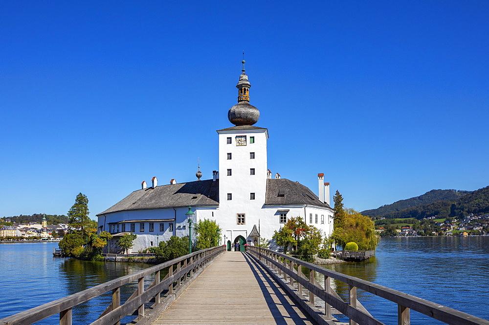 Castle Ort in Gmunden, Lake Traun, Salzkammergut, Upper Austria, Oedterreich