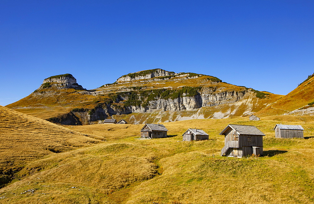 Braeuningalm on the Loser Plateau, Totes Gebirge, Altaussee, Ausseland, Salzkammergut, Styria, Austria, Europe