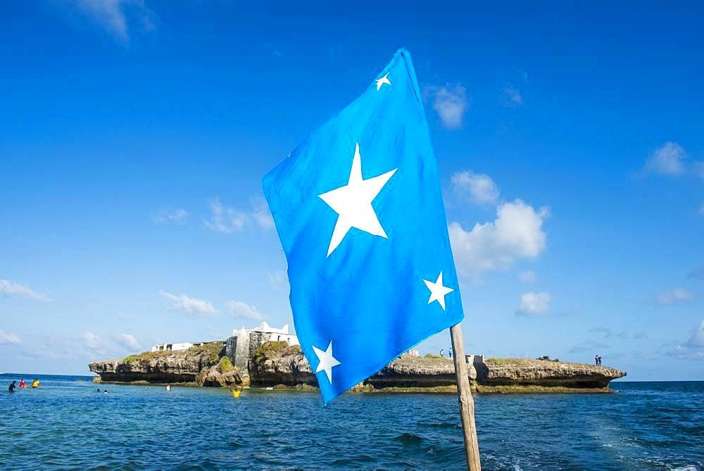 Somali flag, Jazeera beach, Somalia, Africa