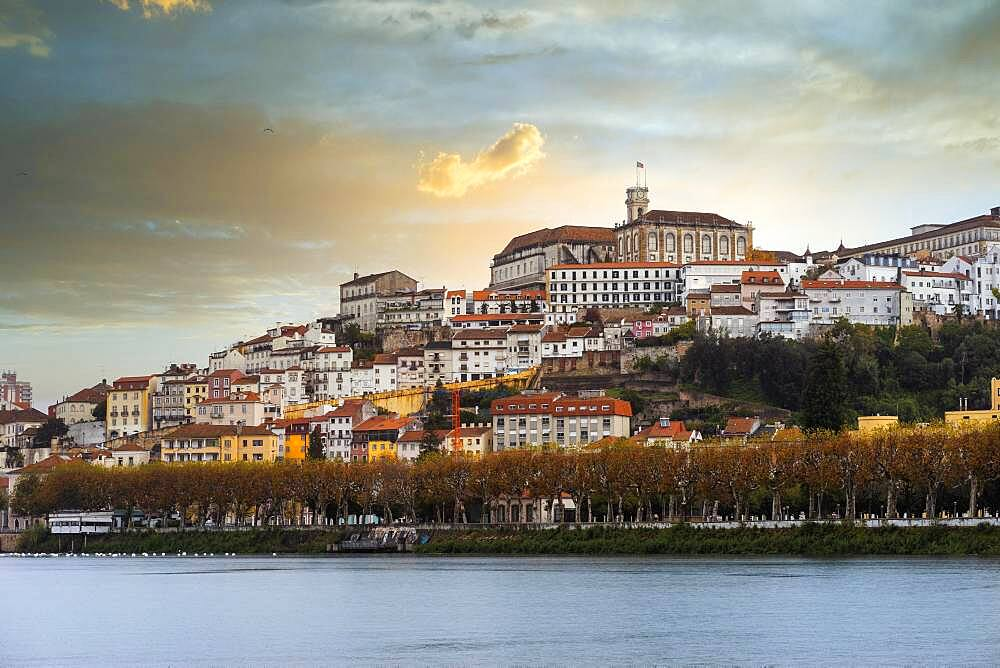 Coimbra cityscape with Mondego river by sunset, Portugal, Europe - 832-388654