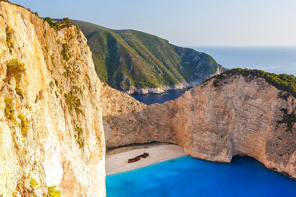 Beach shipwreck Navagio Beach, Zakynthos, Greece, Europe - 832-390441