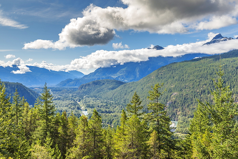View of The Tsilxwm (Tantalus Mountain Range), British Columbia, Canada, North America