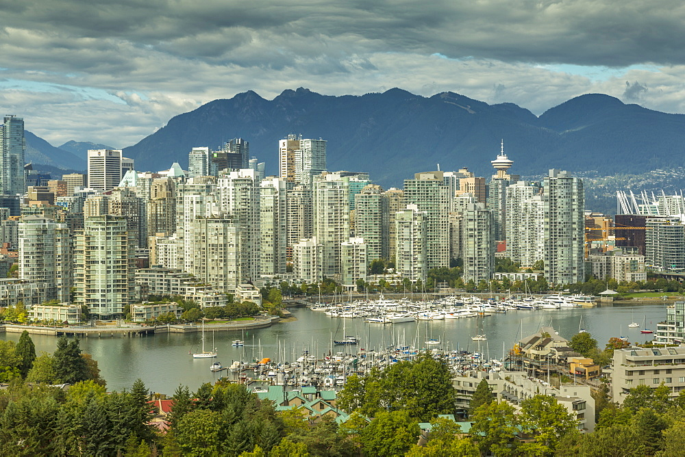 View of Vancouver skyline as viewed from Mount Pleasant District, Vancouver, British Columbia, Canada, North America - 844-14422