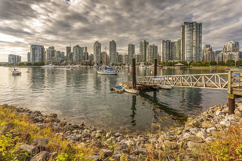 View of Vancouver skyline as viewed from Millbank, Vancouver, British Columbia, Canada, North America - 844-14424