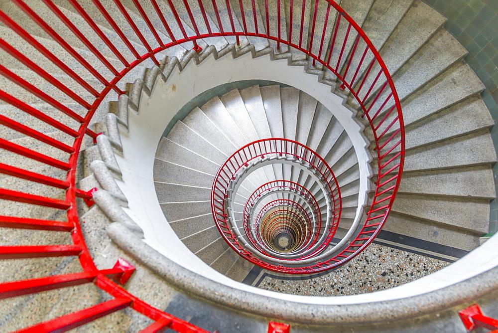 View of spiral staircase in The Skyscraper, Ljubljana, Slovenia, Europe - 844-15226