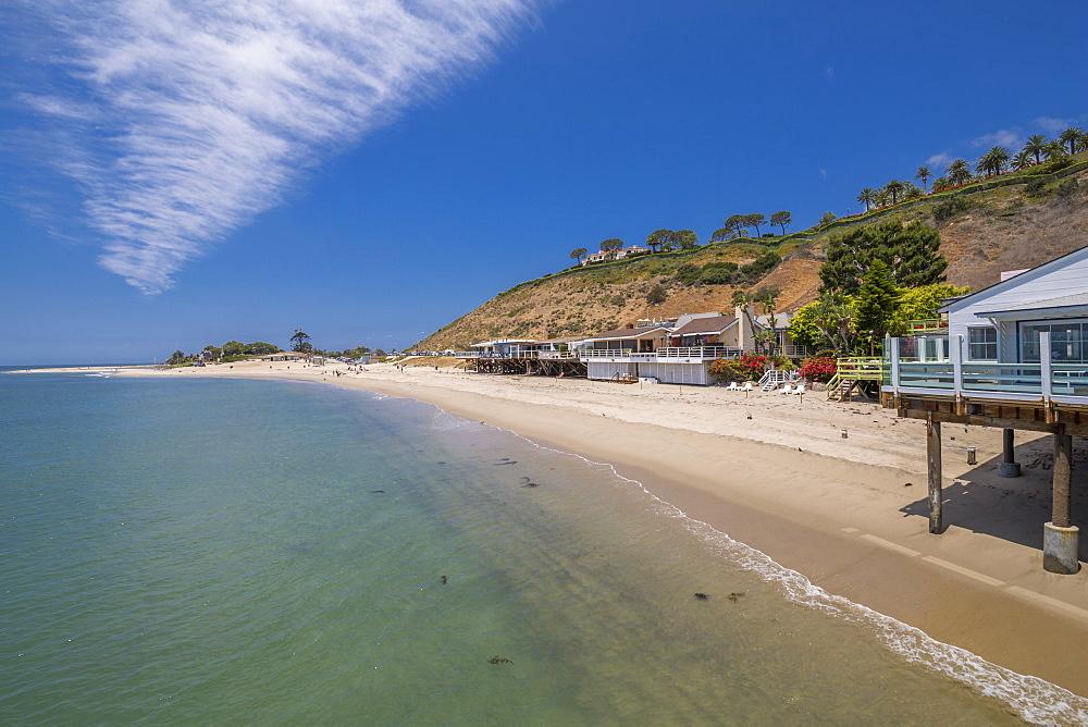 View of Malibu Beach from Malibu Pier, Malibu, California, United States of America, North America