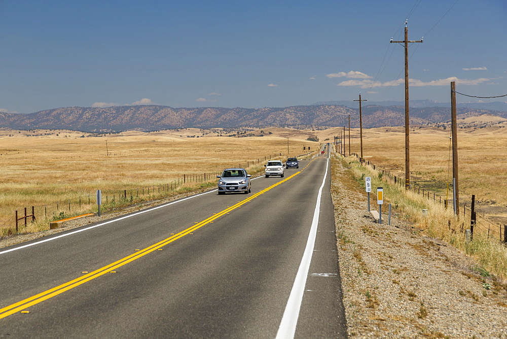 View of Highway 140 near Merced, California, United States of America, North America