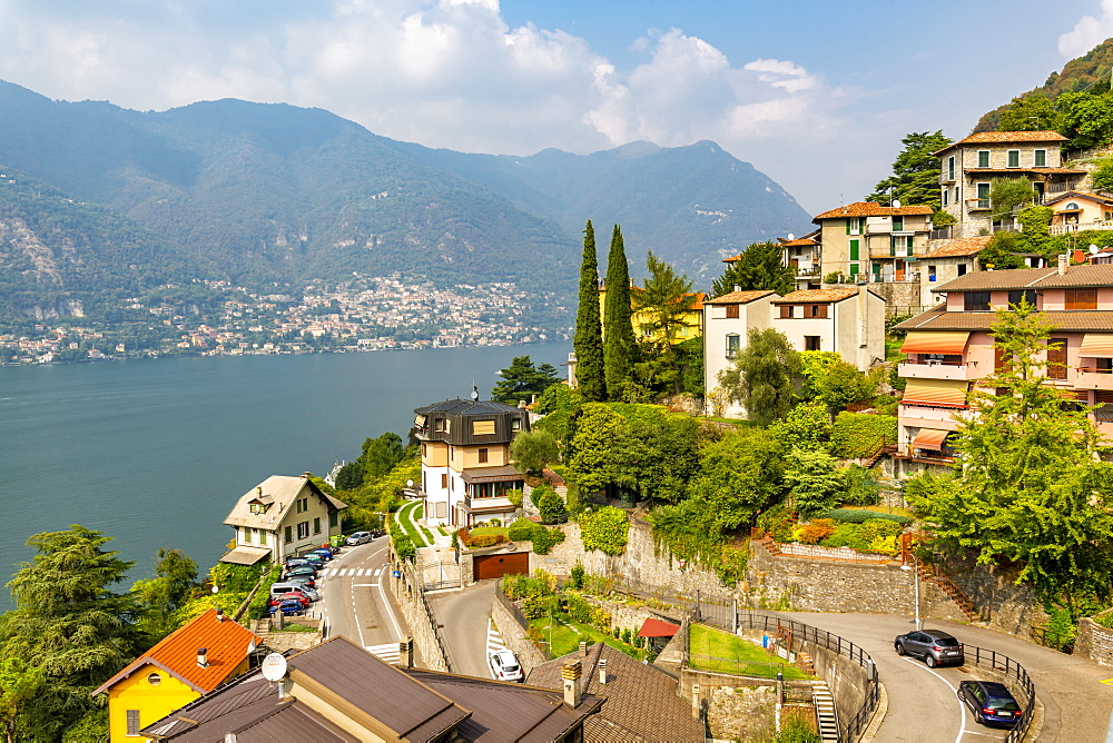 View of Lake Como from Nesso, Province of Como, Lake Como, Lombardy, Italian Lakes, Italy, Europe