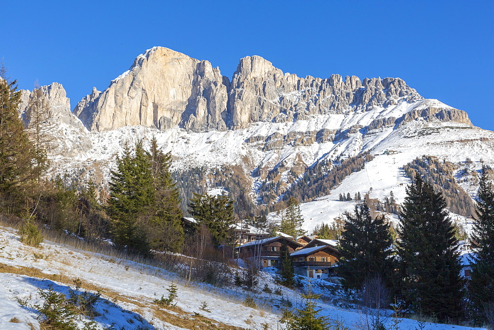 View of Carazza in winter, Province of Bolzano, South Tyrol, Italy, Europe - 844-18859