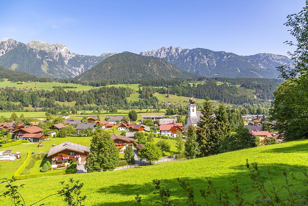 View of Heilige Margaretha Church in Oberhaus, Styria, Austria, Europe