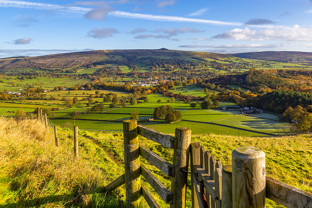View of Hope in the Hope Valley, Derbyshire, Peak District National Park, England, United Kingdom, Europe - 844-21816