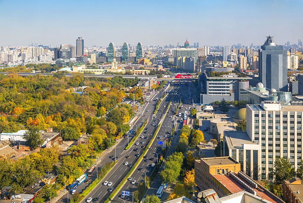 Elevated view of Beijing Zoo and surrounding area, Beijing, People's Republic of China, Asia - 844-21832