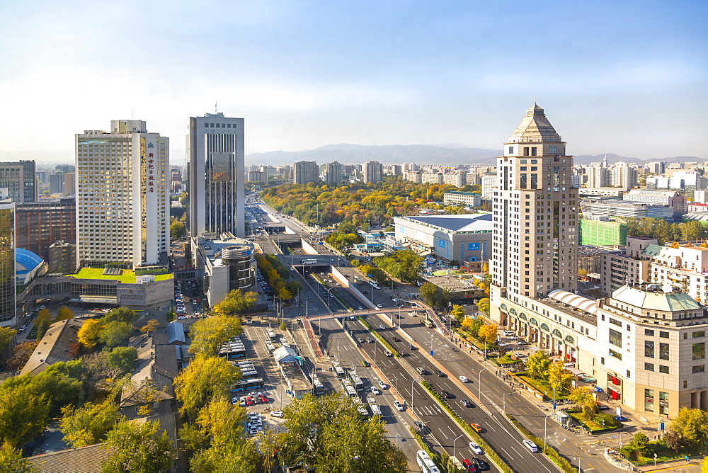Elevated view of city near Beijing Zoo, Beijing, People's Republic of China, Asia - 844-21833