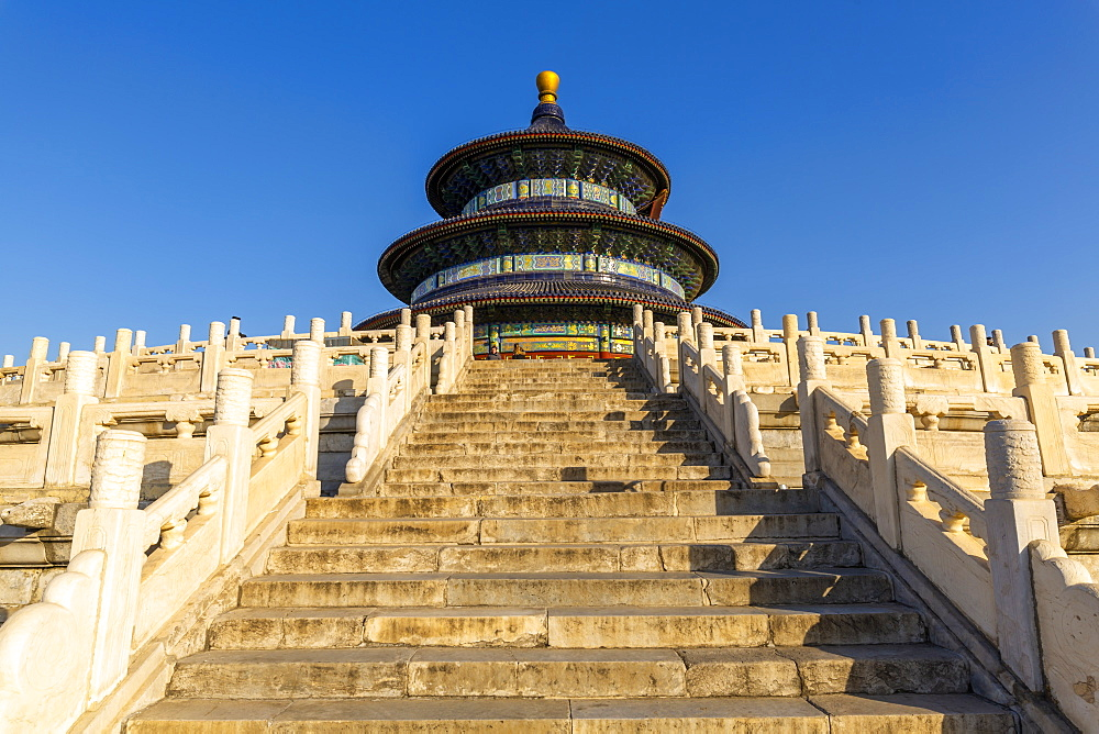 The Hall of Prayer for Good Harvests in the Temple of Heaven, UNESCO World Heritage Site, Beijing, People's Republic of China, Asia - 844-21865