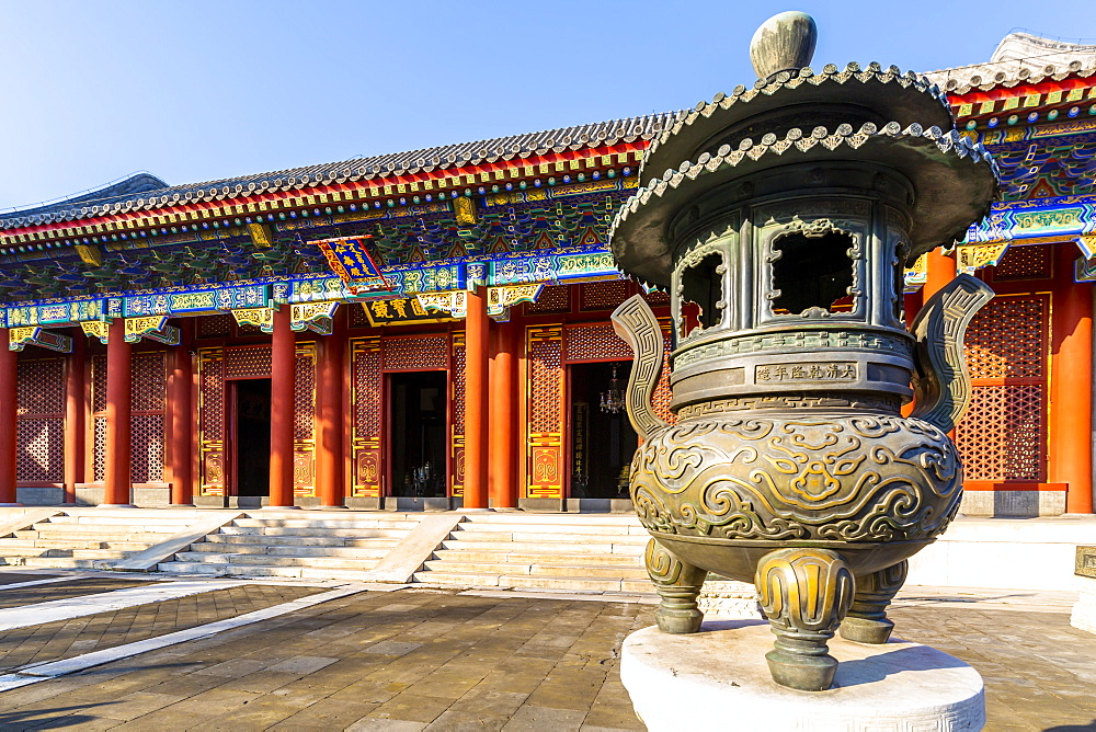 View of ornate buildings in The Summer Palace, UNESCO World Heritage Site, Beijing, People's Republic of China, Asia - 844-21869