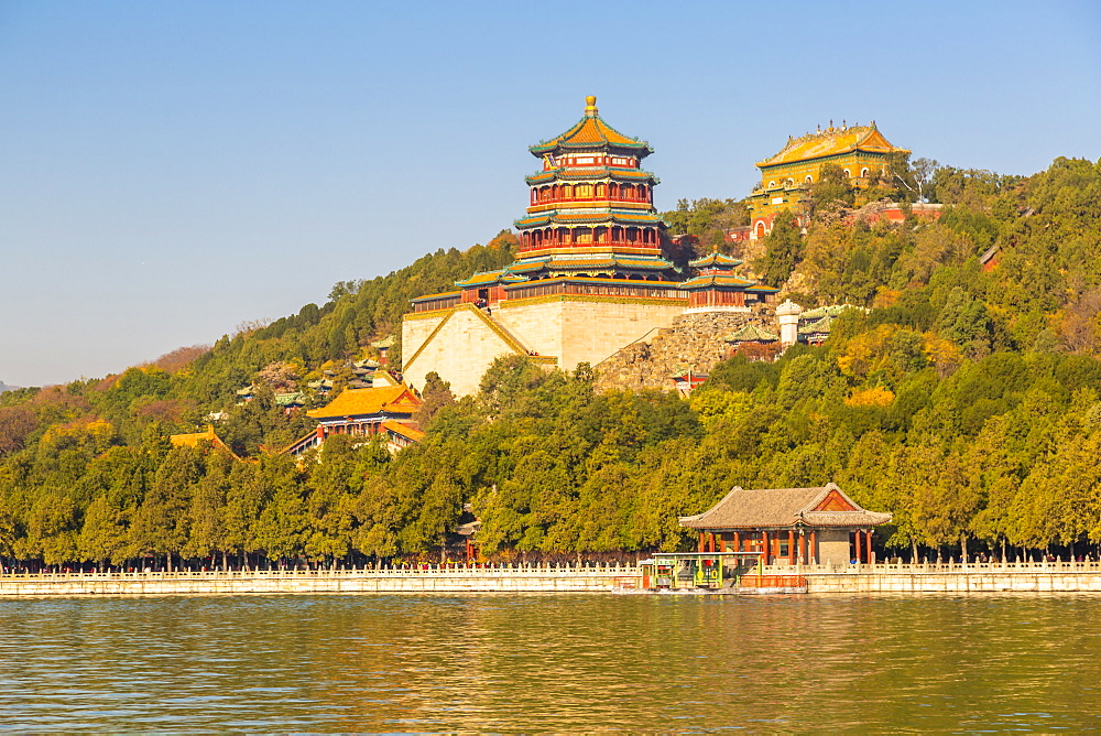 View of Kunming Lake and The Summer Palace, UNESCO World Heritage Site, Beijing, People's Republic of China, Asia - 844-21871