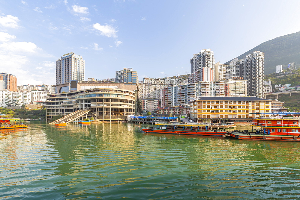 View of Enshi City on the Yangtze River, Badong County, People's Republic of China
