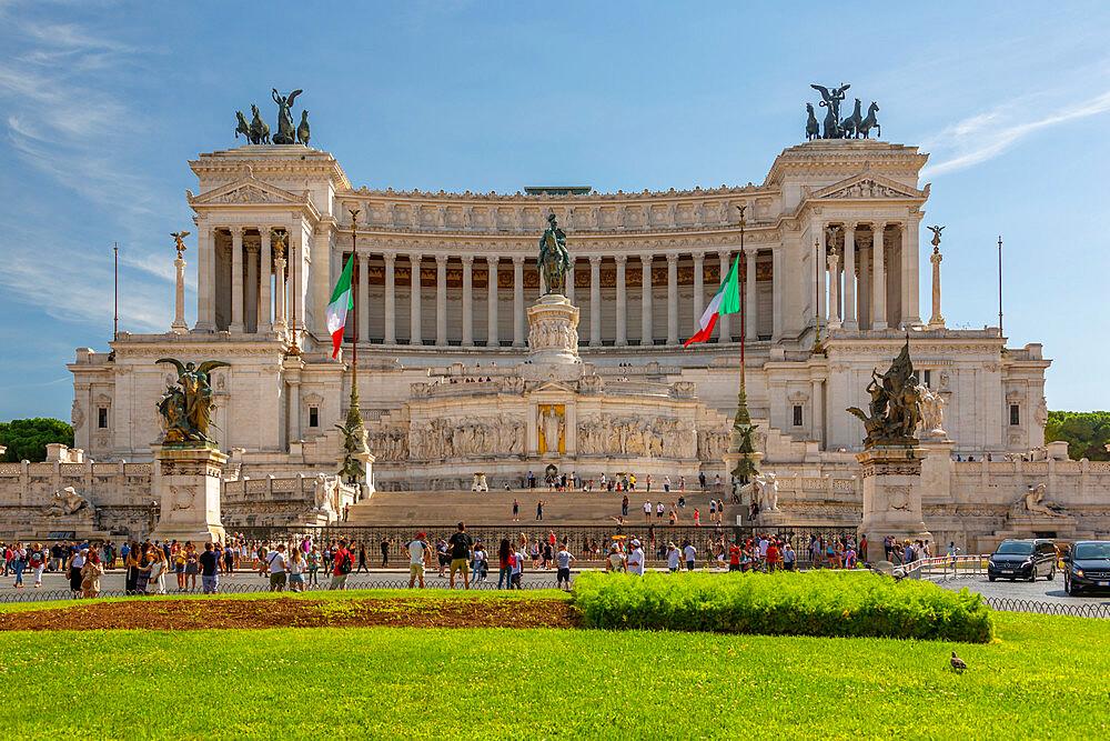 View of Vittoriano, National Monument Vittorio Emanuel, Piazza Venezia, Rome, Lazio, Italy, Europe - 844-23174