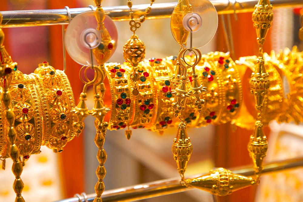 Gold bracelets, Waqif Souq, Doha, Qatar, Middle East