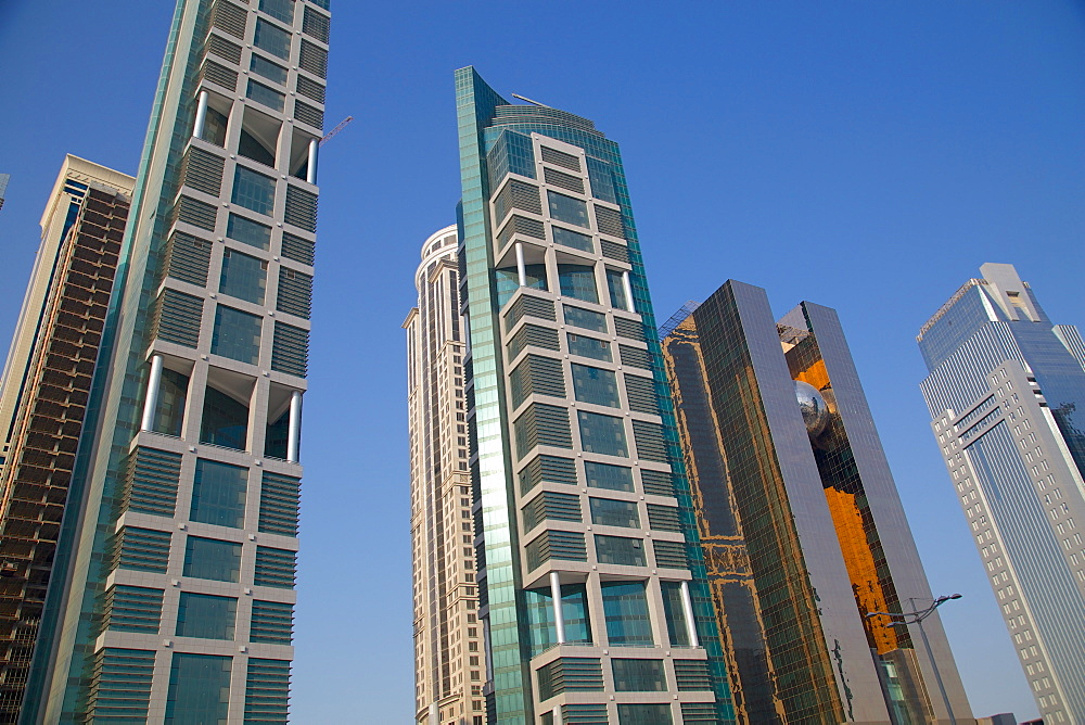Contemporary architecture in City Centre, Doha, Qatar, Middle East