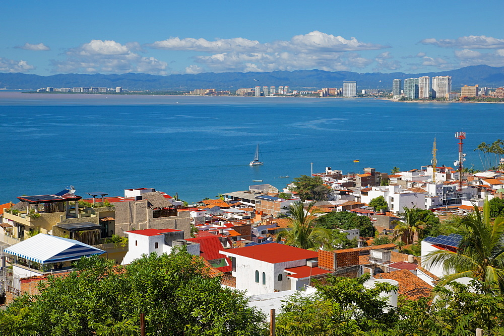 View of Downtown, Puerto Vallarta, Jalisco, Mexico, North America