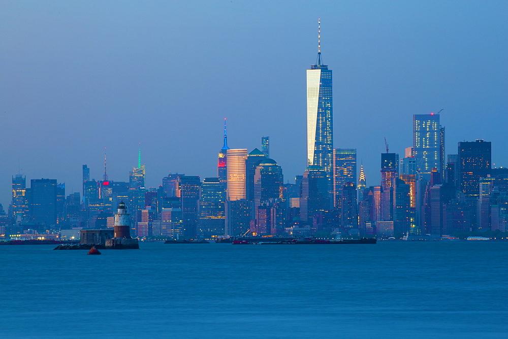 Manhattan from Staten Island, New York, United States of America, North America