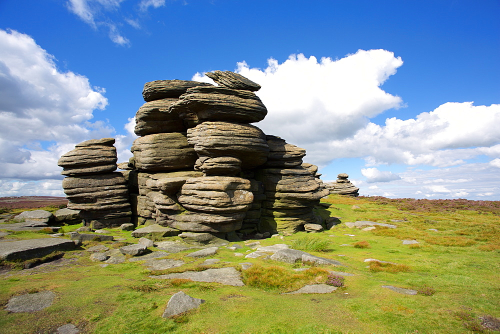 Salt Cellar Rock on Derwent Edge, Peak District National Park, Derbyshire, England, United Kingdom, Europe