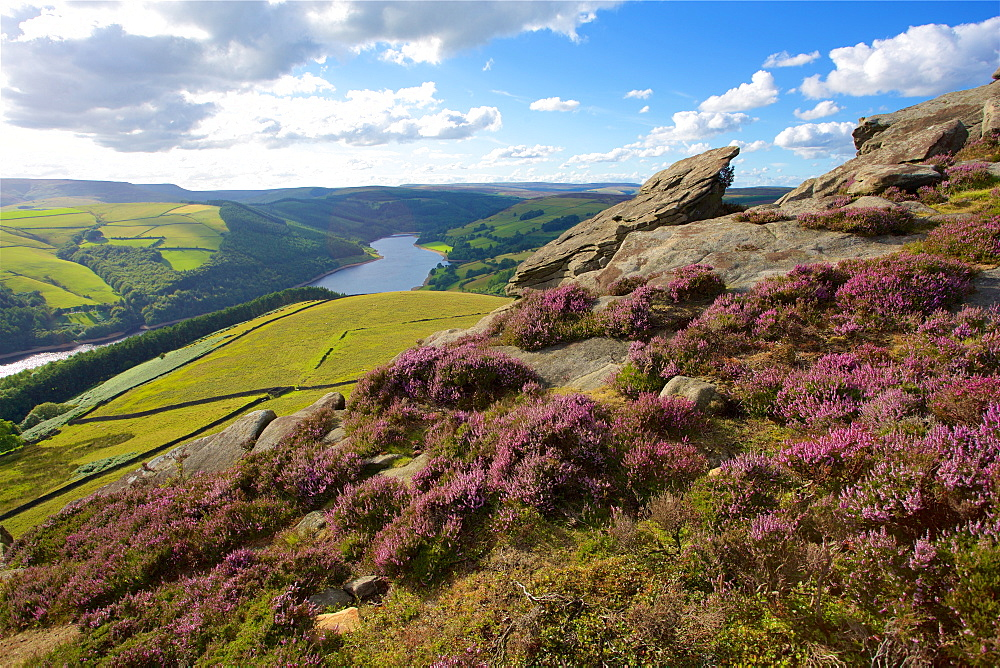 View from Derwent Edge, Peak District National Park, Derbyshire, England, United Kingdom, Europe