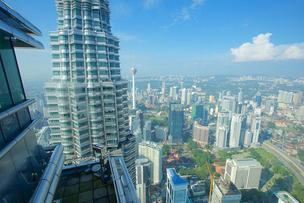 View from Petronas Towers, Kuala Lumpur, Malaysia, Southeast Asia, Asia