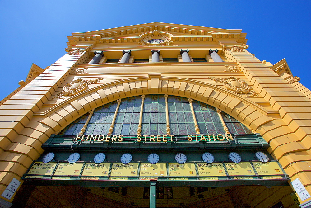 Finders Street Station facade, Melbourne, Victoria, Australia, Pacific