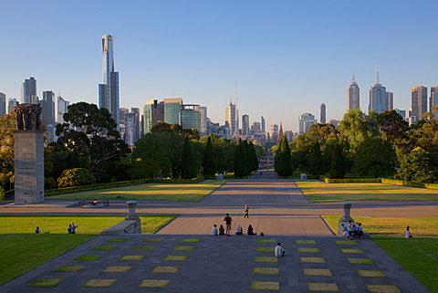 View from Shrine of Remembrance, Melbourne, Victoria, Australia, Pacific