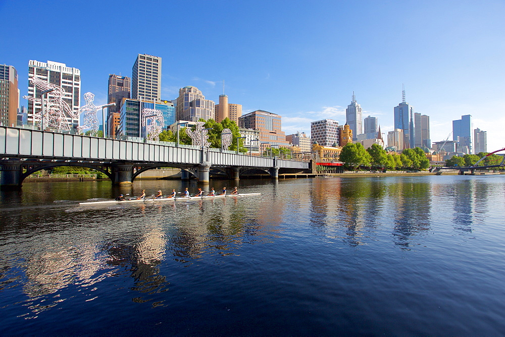 Yarra River and city skyline, Melbourne, Victoria, Australia, Pacific