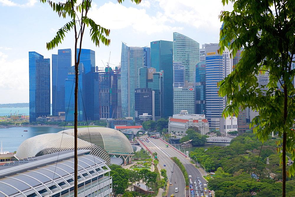 City Skyline from South Beach, Singapore, Southeast Asia
