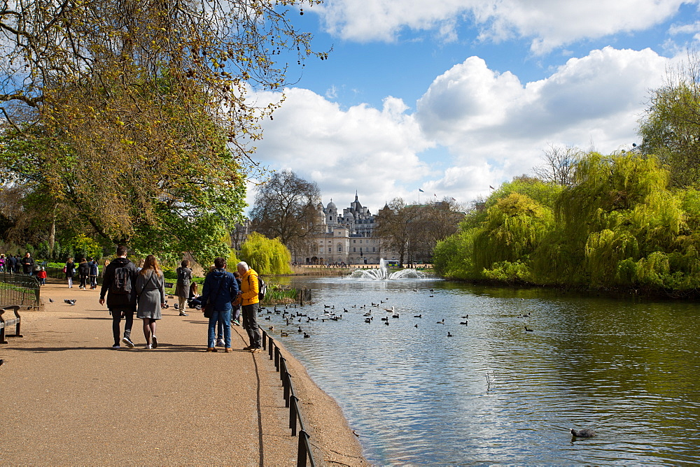 St. James's Park, Whitehall, Westminster, London, England, United Kingdom, Europe