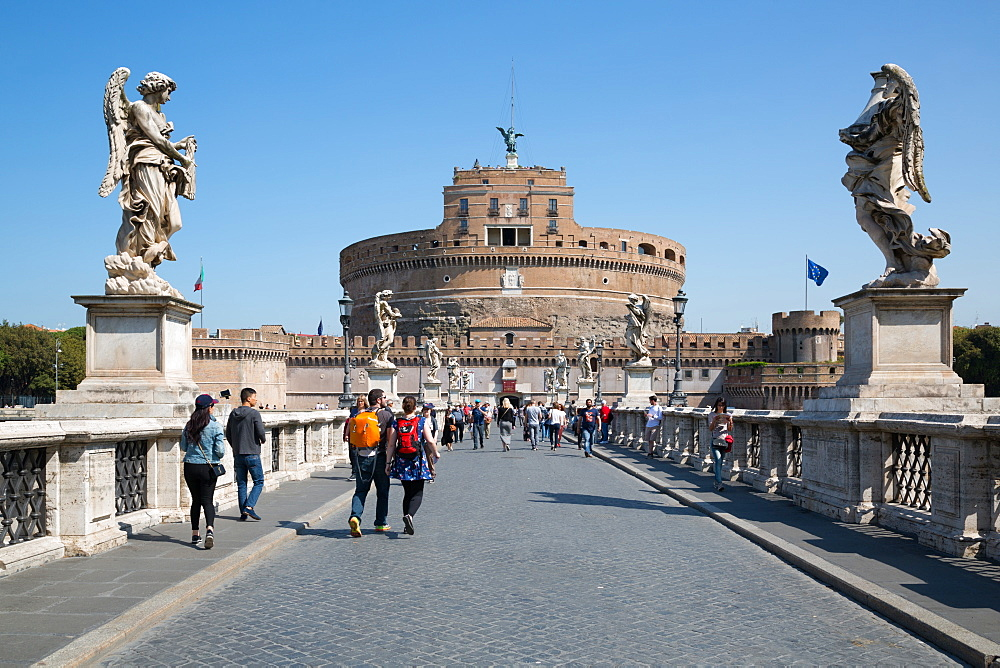 Castel Sant' Angelo, UNESCO World Heritage Site, Rome, Lazio, Italy, Europe