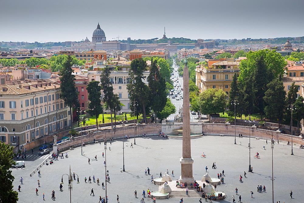 Piazza Del Popolo, Rome, Lazio, Italy, Europe