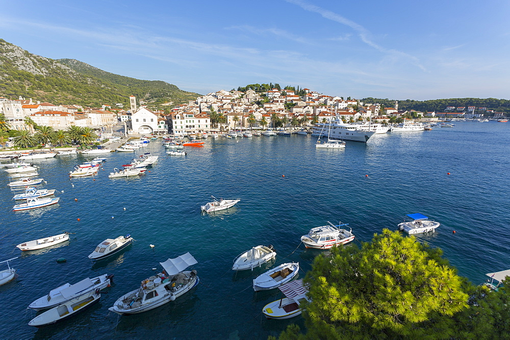 View of Harbour, Hvar Island, Dalmatia, Croatia, Europe