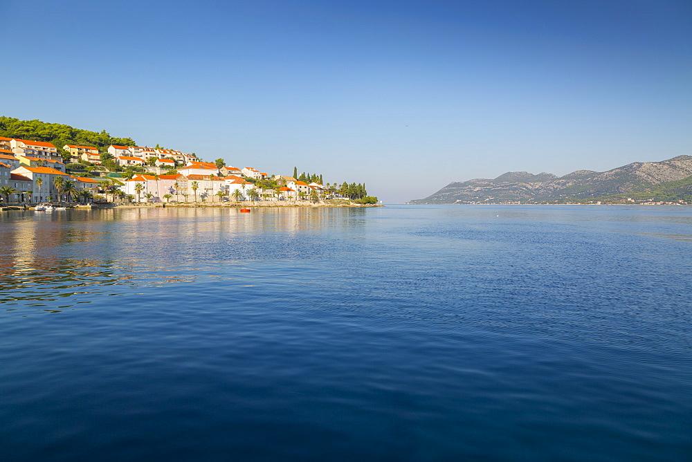Harbour at Korcula, Korcula, Dalmatia, Croatia, Europe