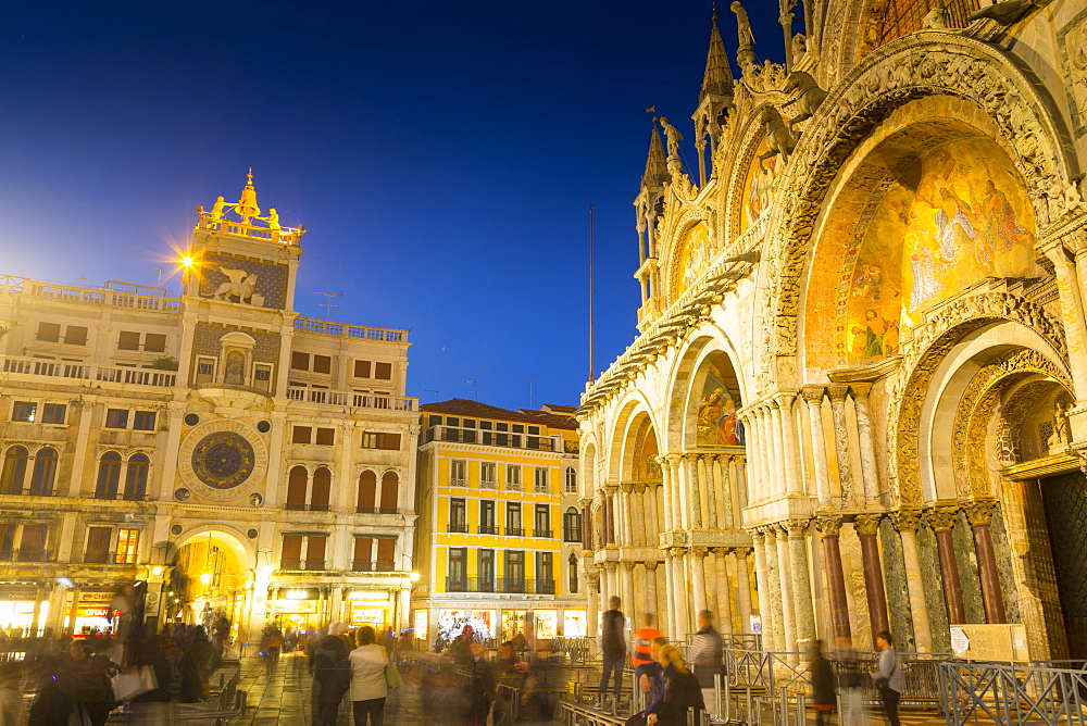 St. Mark's Basilica, Piazza San Marco, Venice, UNESCO World Heritage Site, Veneto, Italy, Europe