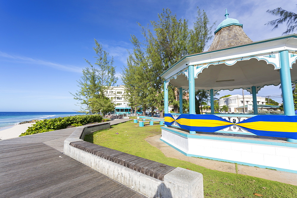 Hastings Bandstand and Beach, Christ Church, Barbados, West Indies, Caribbean, Central America