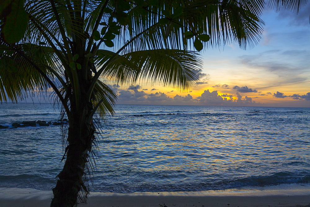 Sunset at Savannah Beach, Christ Church, Barbados, West Indies, Caribbean, Central America