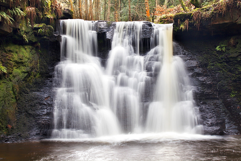 Goitstock Waterfall, Cullingworth, Yorkshire, England, United Kingdom, Europe - 845-1034