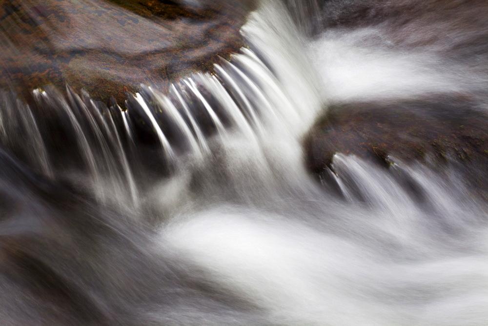 Waterfall in Scaleber Beck below Scaleber Force, Settle, North Yorkshire, England, United Kingdom, Europe